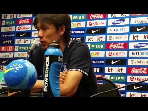 South Korea press conference Intl friendlyvs Ghana