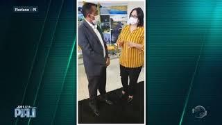 Ministra Damares visita Floriano e elogia protocolo contra covid-19