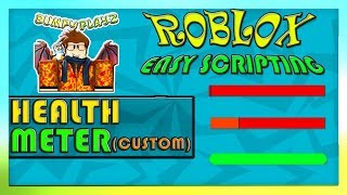 HOW TO MAKE A CUSTOM HEALTH METER (PROFESSIONAL LOOK) | ROBLOX 2019