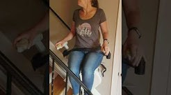 Acorn 130 Straight Stairlift Operation (Remotes and Fold Down Rail)