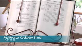 Red Rooster Cookbook Stand - 10015878
