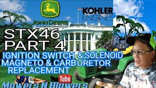 JOHN DEERE STX46 LAWN TRACTOR RIDING MOWER SOLENOID CARBURETOR IGNITION SWITCH MAGNETO REPLACEMENT