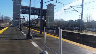 Amtrak Acela Express #2021 And #2024 Roaring By Kingston Station