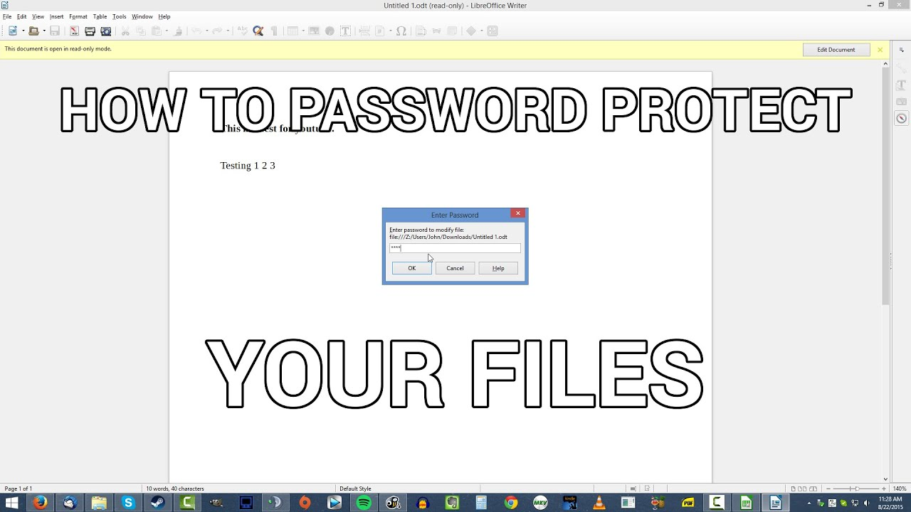 How To Password Protect Files in LibreOffice