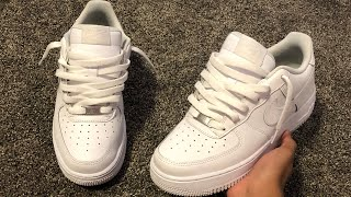 How To Lace Nike Air Force 1s Loosely (THE BEST WAY!!) how