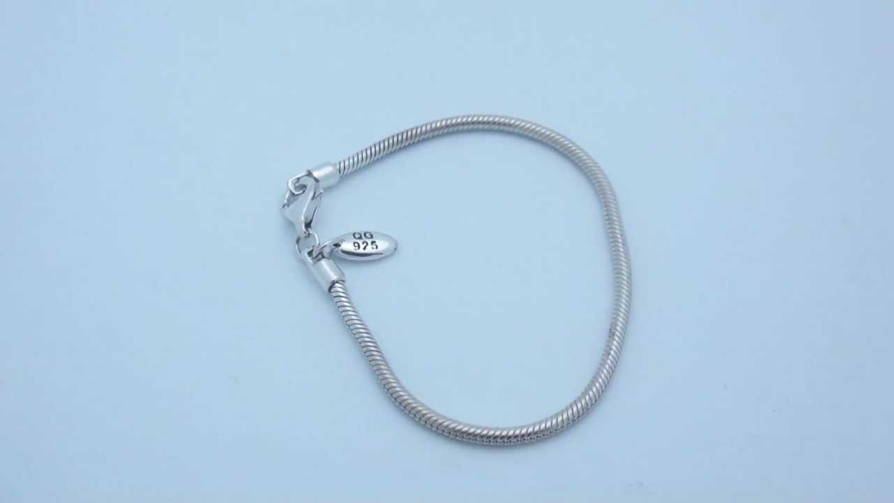 Sterling Silver Lobster Clasp Bead Bracelet Qrs984