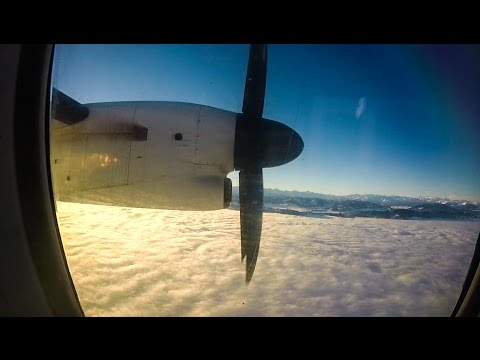 Bombardier Dash 8 Q400 FULL FLIGHT | Stuttgart - Zurich
