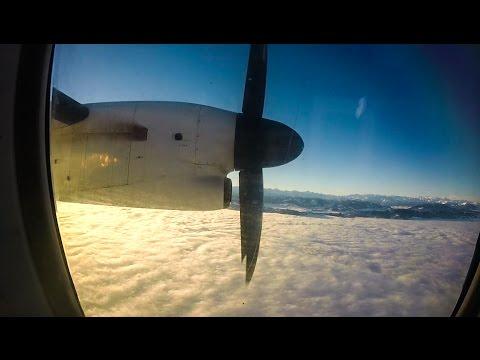 Bombardier Dash 8 Q400 FULL FLIGHT | Stuttgart - Zurich