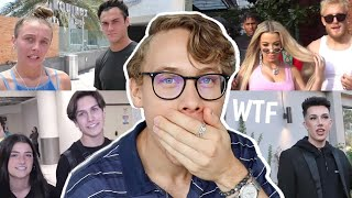 Reacting To Awkward Paparazzi Videos Of YouTubers & Tik Tokers