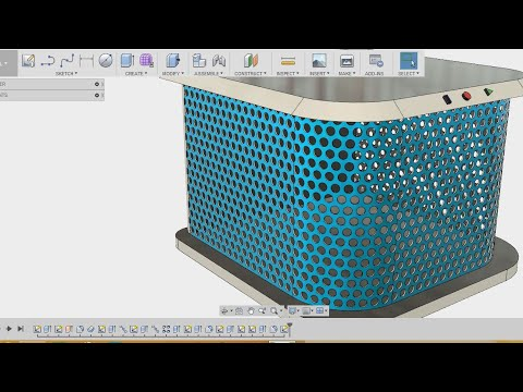 How To Make Mesh Grills Fusion 360 Tutorial Youtube