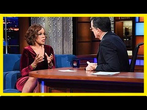 Gayle king talks with stephen colbert about charlie rose firing