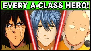All AClass Heroes and Their Powers Explained (One Punch Man)