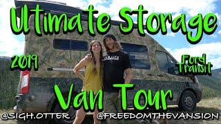 Ultimate Storage Van Tour: Freedom The Vansion: 2019 Ford Transit