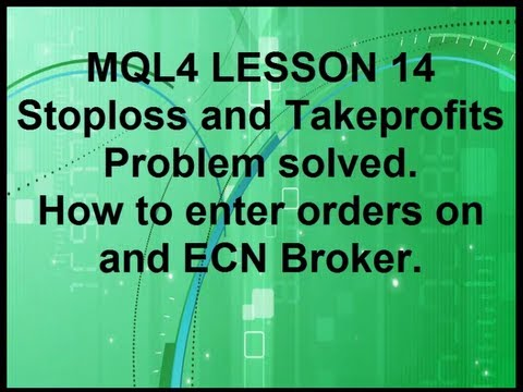 Mql4 Programming Lesson 14 Entering Orders with and ECN broker.