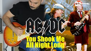 AC/DC - You Shook Me All Night Long - Electric Guitar Cover by Kfir Ochaion