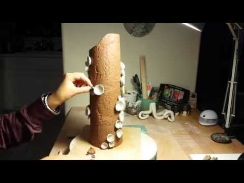 """The making of """"Commune"""" Sculptural ceramic vase by Chelsea Mae"""