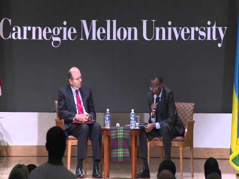 President Kagame speaks to Staff and Students at Carnegie Mellon University