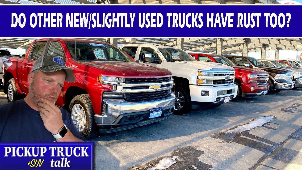 Is rust normal? We Examine New, Used Chevy, Ford, Ram, Toyota trucks