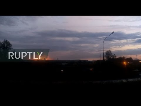 LIVE from ammunition depot explosion site in Krasnoyarsk reg