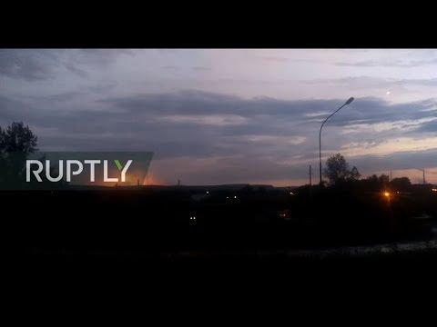 LIVE from ammunition depot explosion site in Krasnoyarsk region