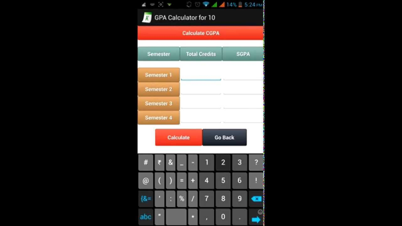 Gpa Calculator Android App By Dv Droid