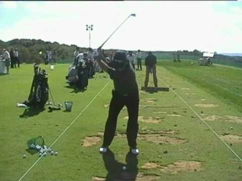 David Frost golf swing views