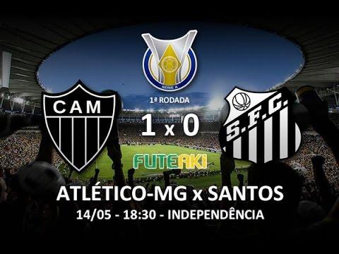Melhores momentos de Atlético MG 1x0 Santos pela 1ª rodada do Brasileirão 2016