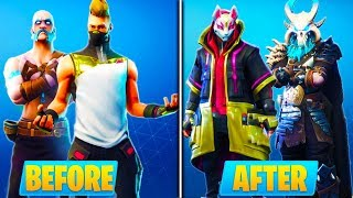 HOW TO UPGRADE SEASON 5 SKINS in Fortnite! - Fortnite Battle Royale UPGRADED SKINS UNLOCKED