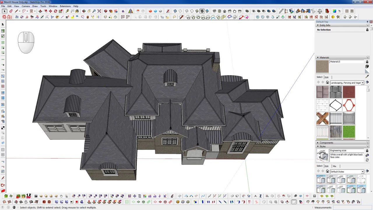 Sketchup Tips Hand Modeling A Complex Roof Youtube