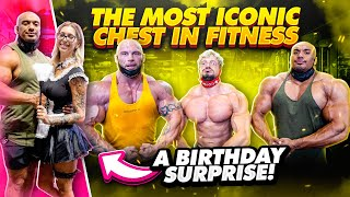 THE MOST ICONIC CHEST IN FITNESS...AND A BIRTHDAY SURPRISE!