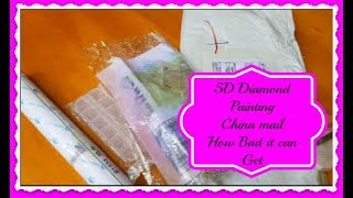 5D Diamond Painting Review - Unboxing -China Mail - How Bad it can get