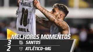 Santos 3 x 2 Atlético-MG | MELHORES MOMENTOS | Brasileirão (24/11/18)