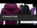 6 Featured Purple Wool Pea Coats Amazon Fashion, Winter 2017