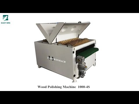 wood panel cabinet door wood floor polishing machine with 4 roller brush