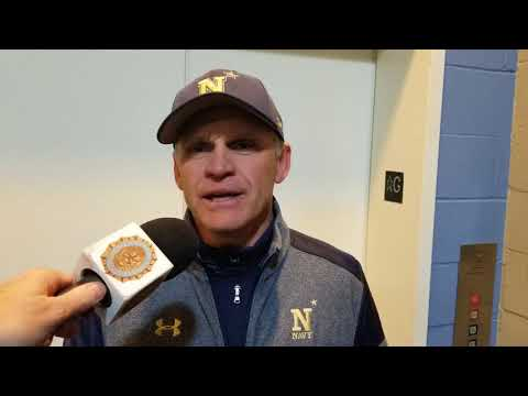 Navy Coach Paul Kostacopoulos Post 5-0 Win Over Army at Fenway Park