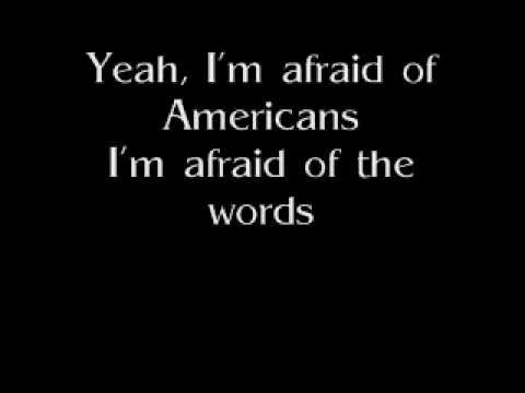 I'm Afraid of Americans - David Bowie (Lyrics)