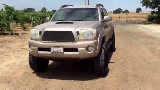 walk around 2006 toyota tacoma 4 inch maxtrac spindle lift 17x9 with 12 offset 285 70 17 tires