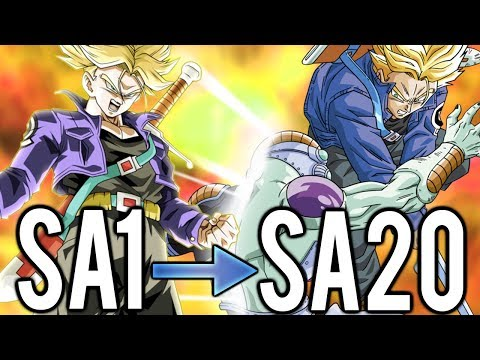 LEGENDARY TRUNKS AWAKENS! SA1 vs SA20 LR TRUNKS DAMAGE TEST! Dragon Ball Z Dokkan Battle