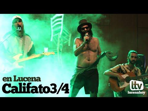 VÍDEO: Califato 3/4 en Lucena. Os dejamos dos de los temas de su concierto en el Auditorio Municipal.