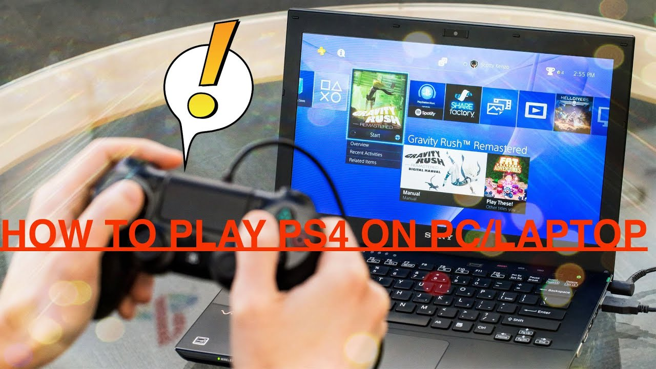 how to connect your ps4 to your laptop