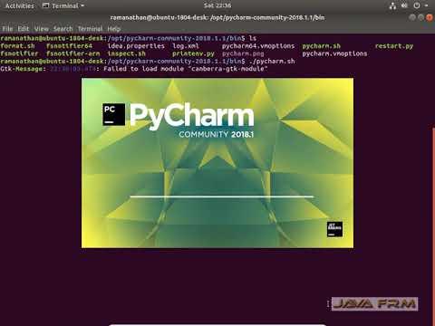 PyCharm 2018 Community Edition Installation in Ubuntu 18 04 LTS
