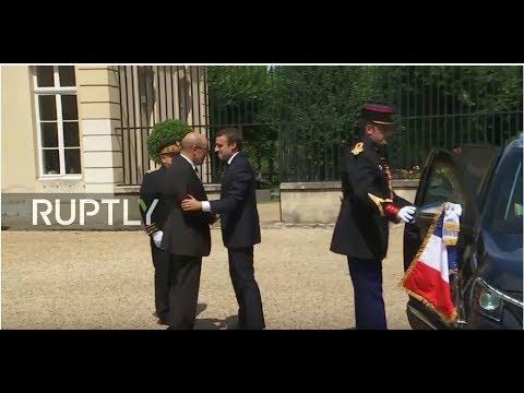 LIVE: Macron meets with Libya's Sarraj and Haftar in la Celle Saint-Cloud