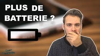 PROBLÈME DE BATTERIE SUR L'IPHONE