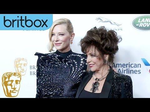 Starstruck Dame Joan Collins Meets Cate Blanchett  Britannia Awards  BritBox