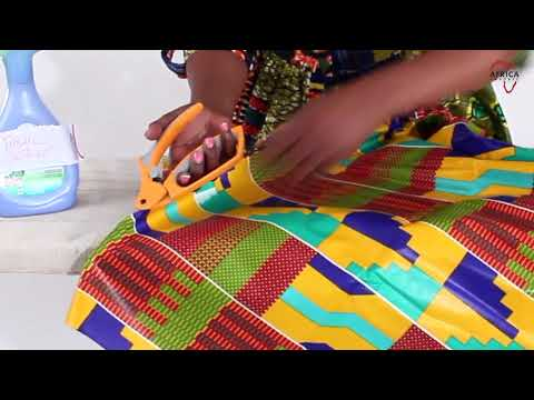 Removing stiffness from African print fabrics