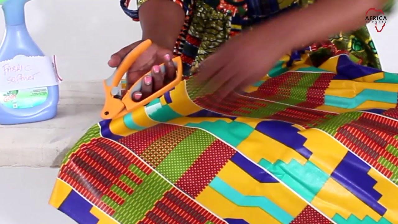 70c2d422cfa4 Removing stiffness from African print fabrics - YouTube
