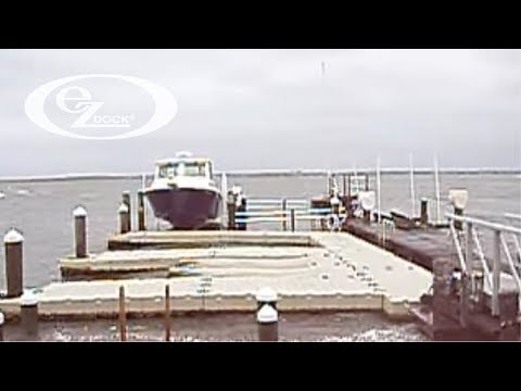 EZ Dock: Dock sections during a Storm