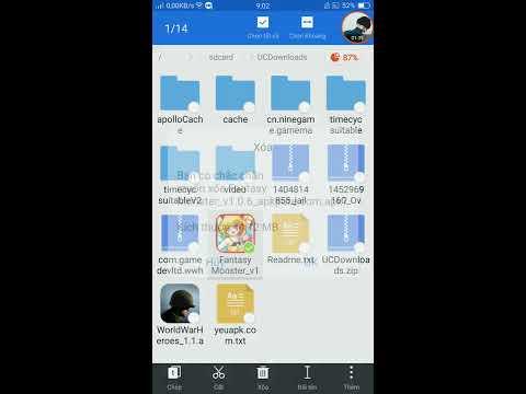 Hướng Dẫn Cài Game [APK+OBB]ngoài CH Play. Cách Giải Nén File, Chép File Các Thứ...