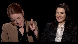 THE FAVOURITE: Emma Stone and Rachel Weisz Interview