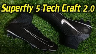 tech craft 2 0 nike mercurial superfly 5 black metallic silver review on feet
